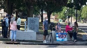 Biden supporters gathering in downtown Kenosha | Local News |  journaltimes.com