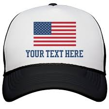 Custom Text American Flag Hat Snapback Trucker Hat