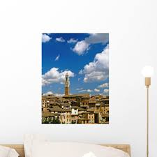Torre Mangia And Siena Wall Mural Wallmonkeys Com