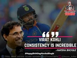 virat kohli trends 🔥 s tweet part harsha bhogle quotes on