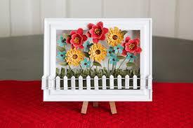 spring decoration flower shadow box