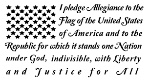I Pledge Allegiance Tattered Flag With Text 50 Stars Patriotic Sticker Decal Rainbowlands Lk