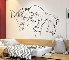 Princess Ariel Wall Decal Little Mermaid Wall Decor Cartoon Etsy