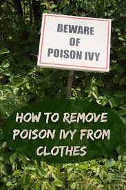 how to remove poison ivy from clothing