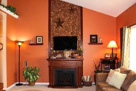 accent wall in faux river rock
