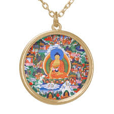 lord buddha gold plated necklace