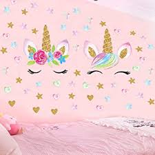 Amazon Com Unicorn Horn Wall Decal Plain Large Size Girl S Room Decor Wall Stickers Baby
