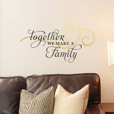 Dcwv Vinly Decal Together Family Swirl Wall Decal Walmart Com Walmart Com