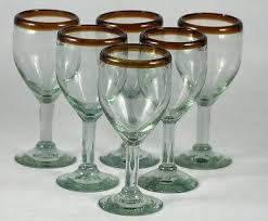 recycled glass wine glasses glassware