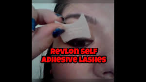 self adhesive false lashes tutorial