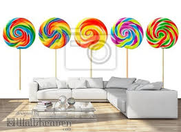 Lollipops Wall Mural Wallpaper Murals Wallsheaven Ruth Black