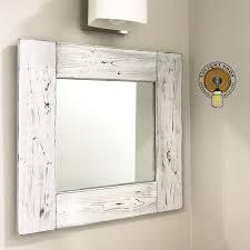 whitewash mirror white wood frame