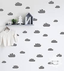 Amazon Com Cloud Wall Decal Hand Sketched Clouds 48 Clouds Sticker Kids Wall Decor Nursery Custom Removable Unique Living Room Gift Handmade