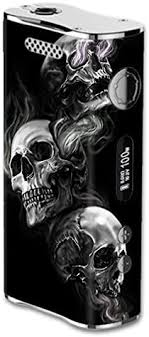 Amazon Com Skin Decal Vinyl Wrap For Eleaf Istick 100w Vape Mod Box Glowing Skulls In Smoke