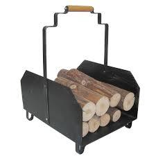 black fireplace log rack manufacturers