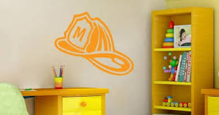 Custom Lettering Fireman Helmet Wall Decals Dezign With A Z