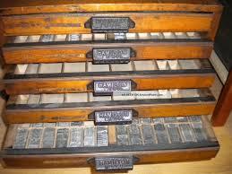 hamilton oak letterpress cabinet 5