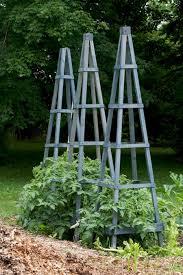 wood garden obelisks dirt simple