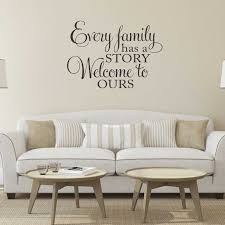 Every Family Has A Story Welcome To Ours Vinyl Wall Decal Family Vinyl Lettering Wall Art Sticker Home Decor Living Room G649 Wall Stickers Aliexpress