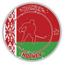 3 Or 5 Hungary Flag Hockey Sport Emblem Car Bumper Sticker Decal