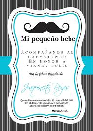Little Man Baby Shower Invitation Invitaciones De Bigote