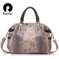 genuine leather tote bag female fashion