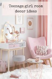 Teenage Girl Room Decor Ideas In Pink Copper Blush And Grey Add Flamingos And Cotton Ball Lights A Pink Armch Girl Bedroom Designs Girl Room Girly Bedroom
