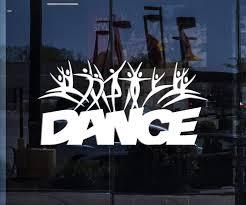Window Sign Vinyl Wall Decal Dance School Studio Logo Cartoons People Wallstickers4you
