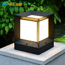 Solar Outdoor Led Light Fixture Solar Power Waterproof Lawn Lamp Fence Gate Lamp Lamppost Garden Lights Outdoor Lighting Decor Solar Lamps Aliexpress