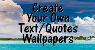 photo to create text wallpaper