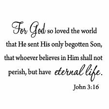 Vwaq For God So Loved The World John 3 16 Bible Wall Decal Reviews Wayfair