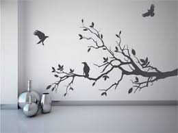 Tree Branch Wall Decal Crows Ravens Birds Mural Game Of Thrones Fan Sticker Ebay