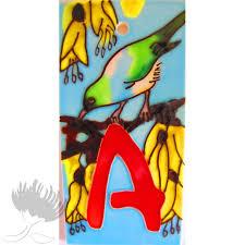 Ceramic Letterbox Tile Birds A Pohutukawa Gallery