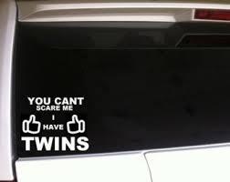 Twins Car Decal Etsy