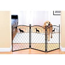 Shop 52 Freestanding Pet Gate W Silhouette Metal Dog Gates Indoor Dog Fence Overstock 18212643