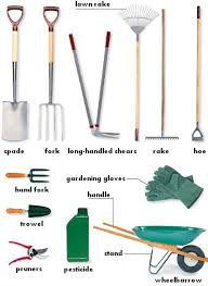garden tools with names and usages