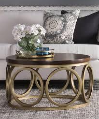 mango wood bronze gemma coffee table