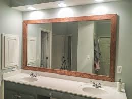 stained wood frame