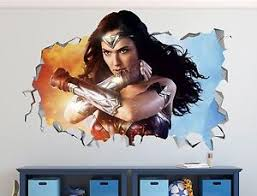 Wonder Woman Wall Decal Sticker Vinyl Decor Car Door Smashed Mural Movie Large Ebay
