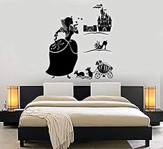 Amazon Com Homedecorstore Wall Decal Girl Cinderella Castle Shoe Fairy Tale Vinyl Sticker Art Hds3553 Home Kitchen