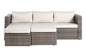 3 seater rattan effect mini corner sofa