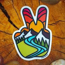 Atomicchild Peace Sticker Rei Co Op