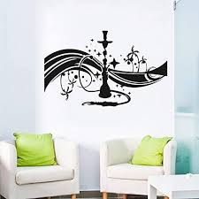 Amazon Com Hookah Hookah Cafe Bar Lounge Wall Decal Bedroom Arabian Glue Wall Art Sticker Living Room Self Adhesive Wall Decal 42cm X 26cm Home Kitchen
