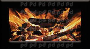 Fireplace Wallpaper Decal Mural Fire Wall Vinyl Realistic Fireplace Art S51 21 95 Picclick