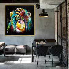 2020 Thinking Monkey Wall Art Canvas Abstract Animals Pop Art Canvas Paintings Wall Decor Pictures For Kids Room 190928 From N888 7 9 Dhgate Com