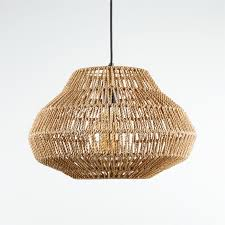 cabo small woven pendant light in 2020