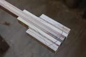 laminated wooden canoe paddle