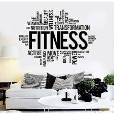 Vinyl Wall Decal Fitness Words Healthy Lifestyle Gym Motivation Stickers Vs3825 Amazon Com
