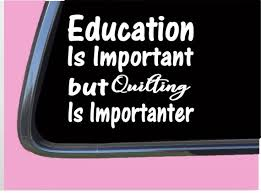 Quilting Important Tp095 Vinyl 6 Decal Sticker Quilt Etsy