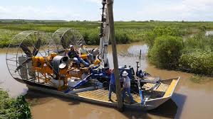 turbine powered airboats for sensitive